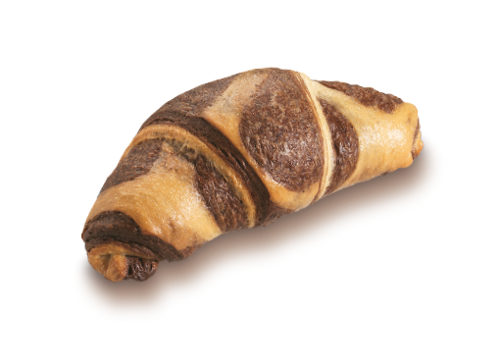 Marble Croissant with Milk Cream and Chocolate