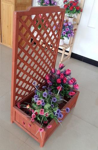 Flower box rack for decrection