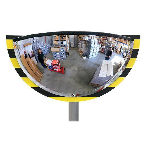 Demi miroir de sécurité pour entrepôt et logistique...