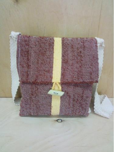 Textile woman shoulder bag