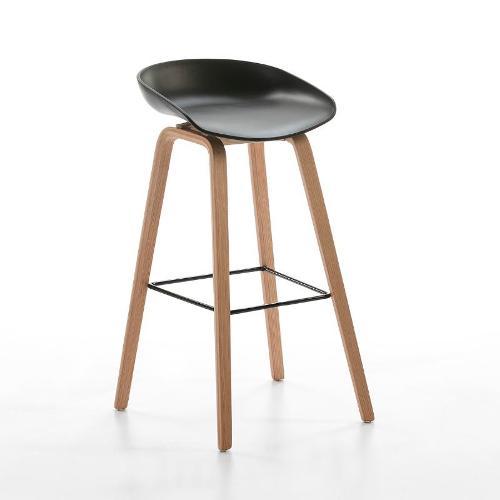 Hocker 50x46x83 Holz/metall/acryl Schwarz - Bar Bar Stuhl Hocker
