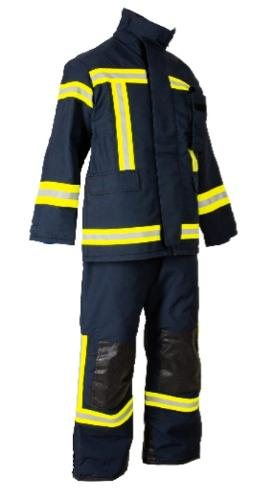 EMERCOM suit made of fire-resistant fabric.