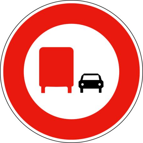Panneau B3a Interdiction De Dépasser