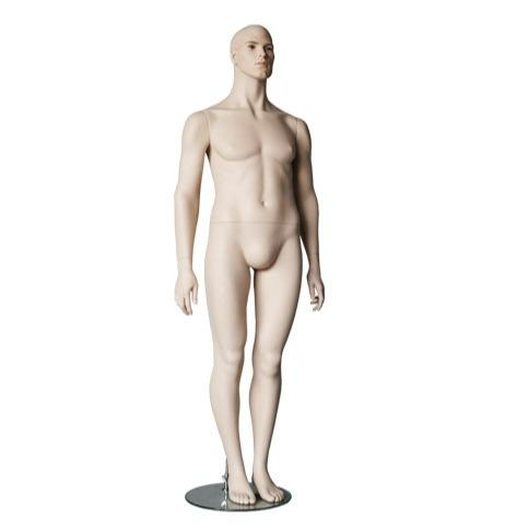 Adult Realistic Male Mannequin Fiberglass