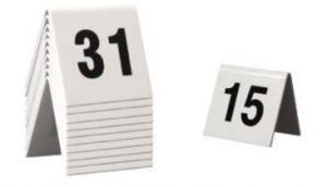 Chevalets de table empilables 10 numéros