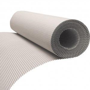 Corrugated board on roll