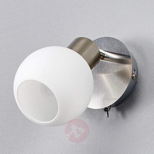 LED wall spotlight Elaina, nickel matte