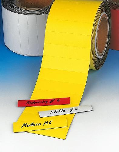 Étiquette magnétique de magasin en rouleau, prédécoupée