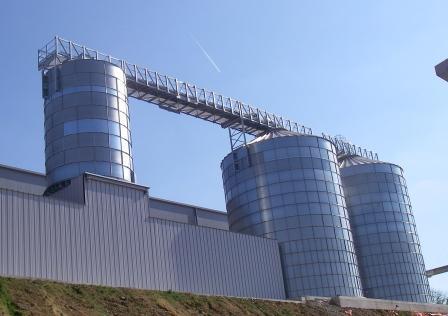 Storage silos 2 x 1000m³ silo, Ø9m88 – Total height 16m