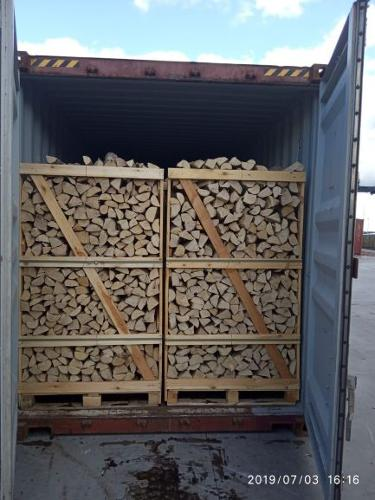 Kiln dried firewood in crates