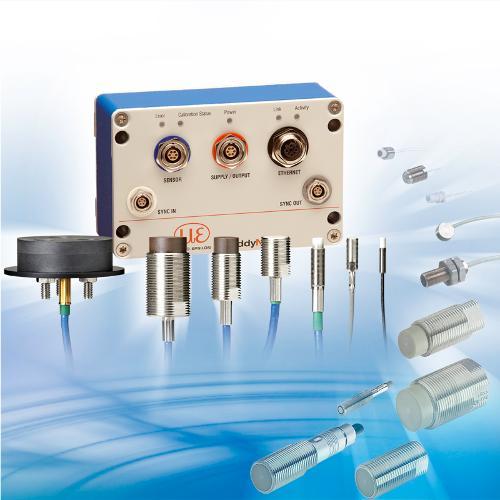 Inductive high-power sensor system (eddy current basis)