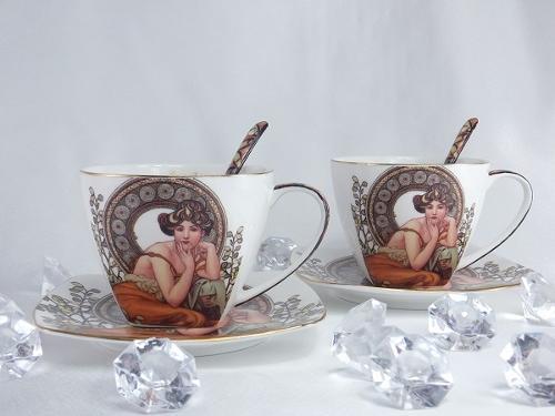 Cappuccino Tassen - Alfons Mucha