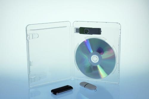 BluRay Box - für 1 Disc und USB-Stick - transparent