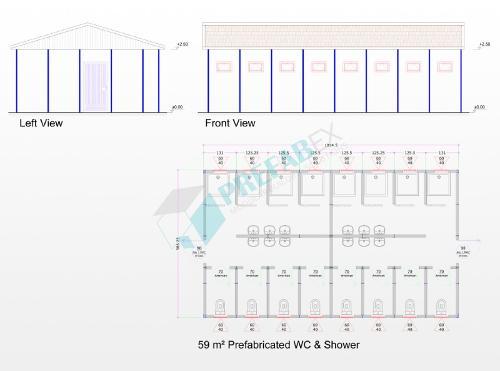 59 M² Prefabricated Wc Shower