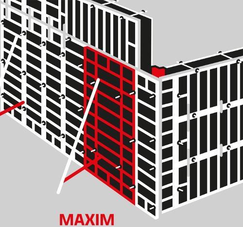 MAXIM wall formwork
