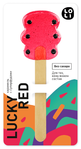 Gourmet Lollipops LO-LI «Lucky Red» sugar free