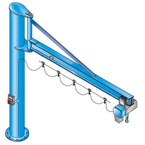 Column-mounted slewing jib crane PS