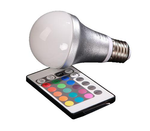 Remote Control Colour Changing RGB LED Bulb - A60, 4W, 65lm