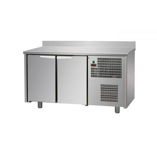 Tables réfrigérées 2 portes inox avec dosseret