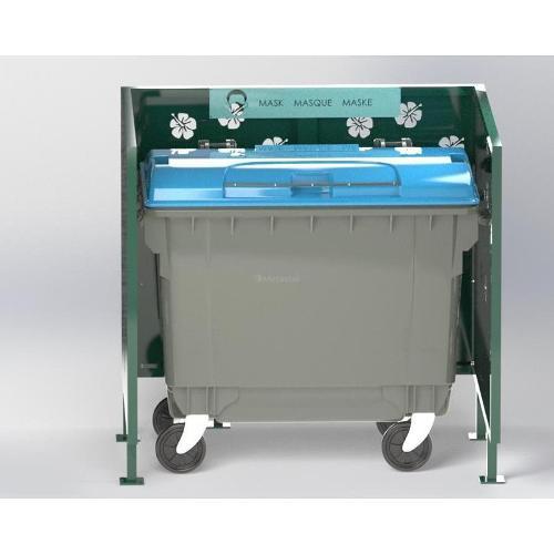 Cache Poubelle Conteneur Hibiscus En U Recyclage Masque