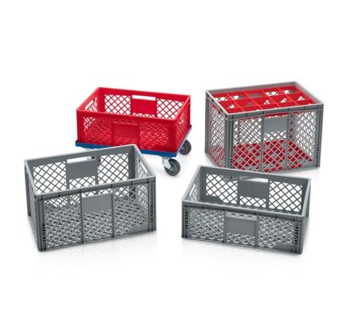 Euro containers perforated