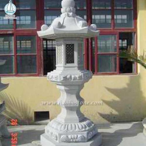 High Quality Outdoor Granite Stone Lantern