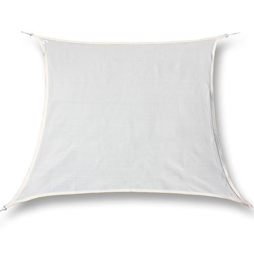hanSe® Marken Sonnensegel 100% Polyester Quadrat 6x6 m Creme