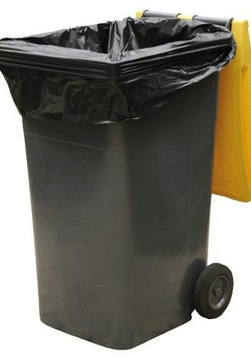 100 Housses Doublure Container Pebd Noir 120 Litres