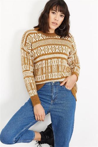 Women Taba Patterned Knitwear Sweater