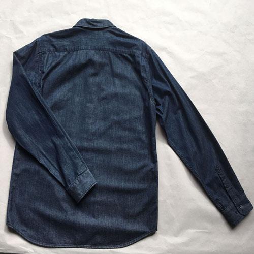 Мужская повседневная джинсовая рубашка