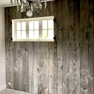 Bardage en vieux bois argenté