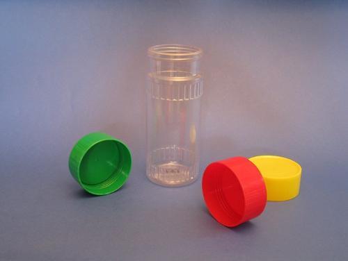 vasetto in PVC con tappi colorati