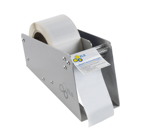 Manual label dispensers