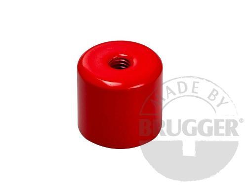 Bar magnet AlNiCo, steel body, with internal thread