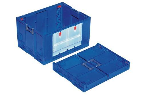 Caixa de plástico rebatível