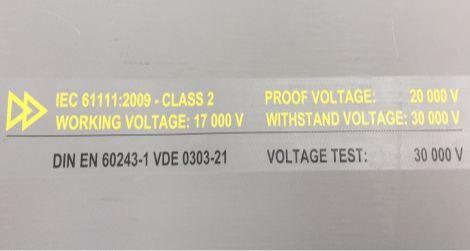 Electrosafe MD572 IEC61111 Class 2 Rubber Matting