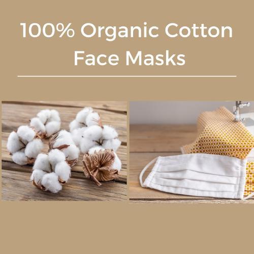 100% Organic Cotton Face Masks