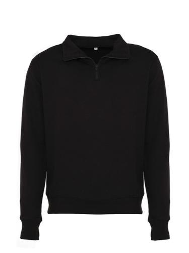 Heren trui met rits Zwart