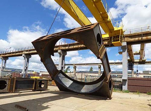 Stahlbau der Stützhalterung
