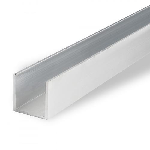 Aluminium U-section, EN AW-6060, 3.3206, mill-finish, T66