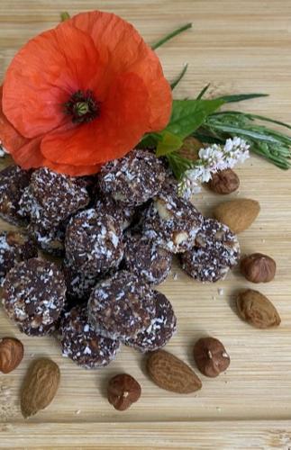 Perles d'énergie gorgées de fruits secs