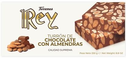 TURRÓN DE CHOCOLOTE CON ALMENDRAS