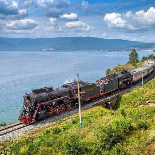 The Golden Buckle of Trans Siberian Railway Lake Baikal