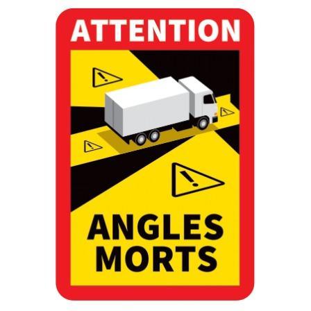 AUTOCOLLANTS OFFICIELS ANGLES MORTS POIDS LOURDS