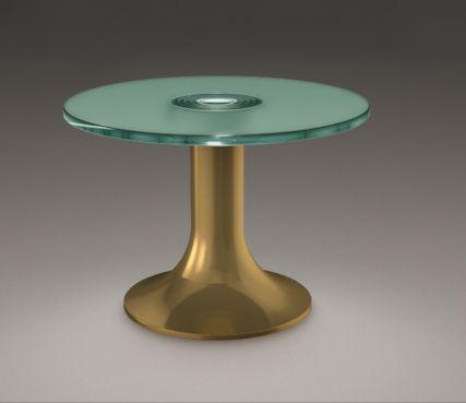 Gueridon illuminated table