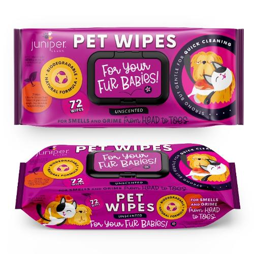 Juniper Clean Biodegradable Pet Wet Wipes