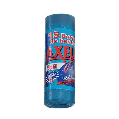 Bolsas de basura 55×60 Autocierre Azul Axelín