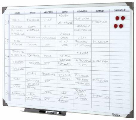 Tableau Planning Hebdomadaire Magnétique