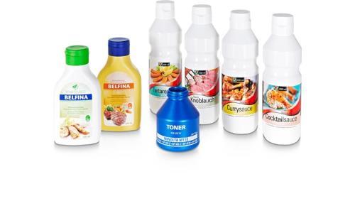 Individuelle Flaschen und Behälter