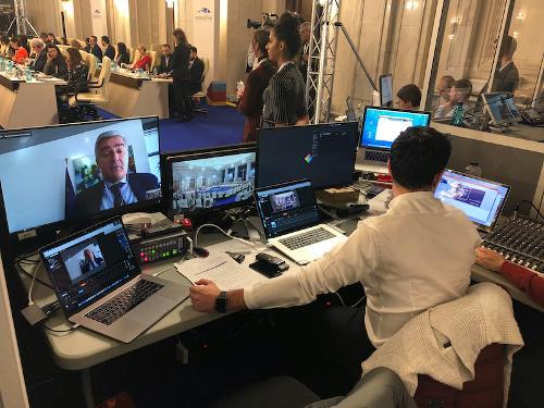 Videoconference with Simultaneous Interpretation